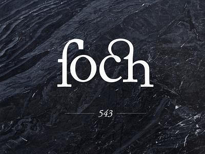 FOCH design ligature wordmark type branding identity logo