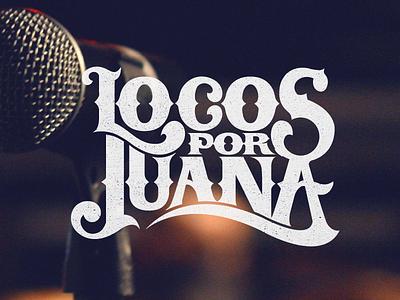 Locos Por Juana miami music typography lettering design ligature wordmark type branding identity logo