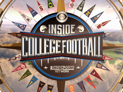 CBS Sports Network - Inside College Football animation on-air broadcast cbs football sports tv logo identity