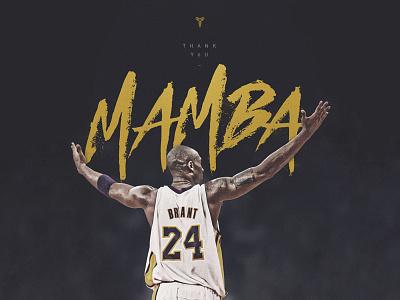Thank you, Mamba! design typography kobe bryant nba mamba kobe type basketball