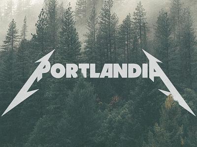 Portland pdx nature travel music identity typography type design logo portlandia portland