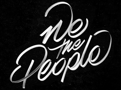 We The People music atcq hand-made design typography type lettering