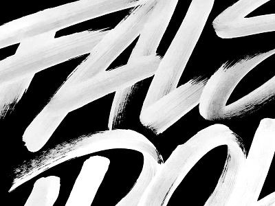 Brushin'. wip brush branding hand-made design typography type lettering