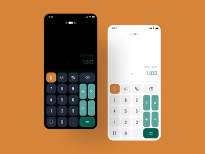 Calculator Screen | Daily UI dailyuichallenge dailyui uxdesign uiux uidesign vector typography logo illustration design icon ux ui app