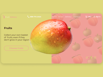 Fruits minimal landingpage website web typography branding logo design