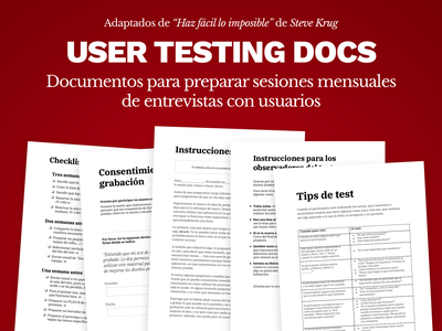 Free Template | User Testing Docs in Spanish testing user test google docs free documentation test user testing