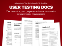 Free Template | User Testing Docs in Spanish