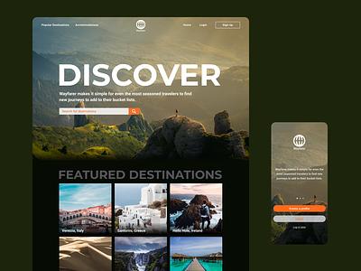 Wayfarer website & app ux travel