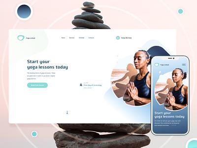 Yoga School UI Design Concept yoga site yoga app yoga website design minimal web design minimalism webdesign web ui ux uiux uxui ui design uidesign