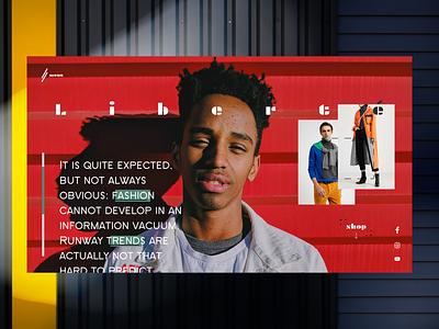 Liberte shop UI Design Concept website design minimal web design minimalism webdesign web ui ux uiux uxui ui design uidesign