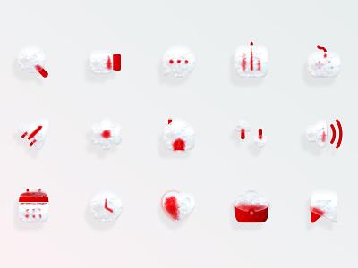 Ice Icons glassmorphism glass ice icons design icons pack icons design webdesign web ui ui design uidesign