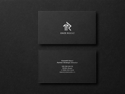 professional fiol business card design dembossed embossed fiol black logo professional minimalist business card