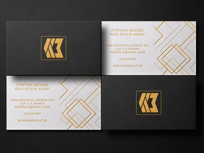 Professional business cards design fiol real estate letterpress foil stamp branding black logo minimalist business cards professional