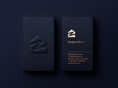 Leterpress gold fiol business cards design vector vertical business card blue logo real estate foil stamp professional minimalist business card