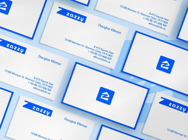 Professional business cards design real estate blue vector professional business card design branding logo minimalist business card