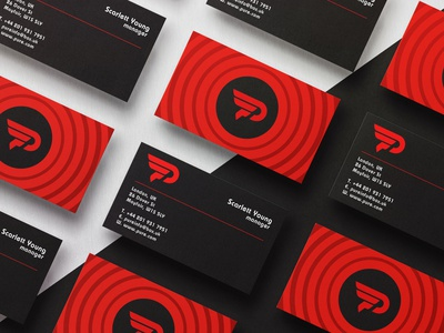 Minimal business cards design brand identity red black logo real estate professional business card design minimalist minimal