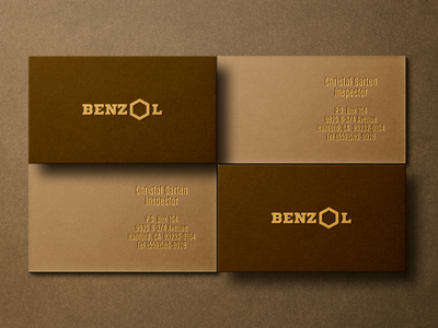 GOLD FOIL LETTERPRESS foil stamp professional business card design brand identity branding minimal logo brown texture brown texture old paper luxury design letterpress gold foil