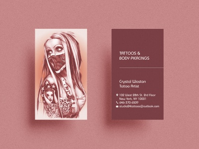 TATOOS BUSINESS CARDS DESIGN tattoo design business card design minimalist brand identity branding logo graphicdesign illustration minimal professional business cards