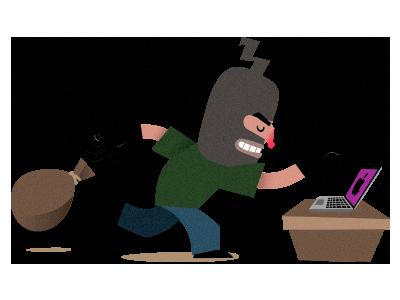 Burglar illustration
