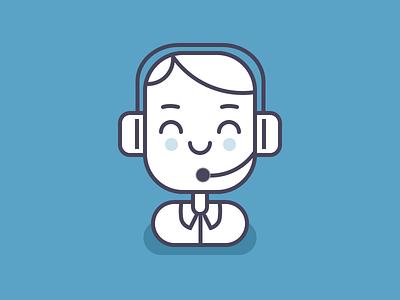 Customer Service icon character avatar line