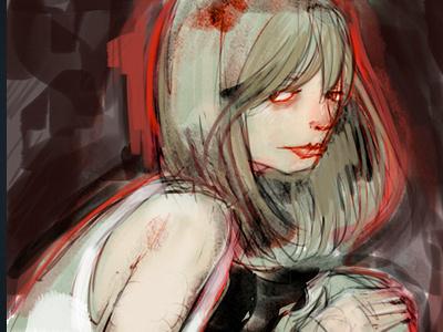 Girl conceptart sketck illustration
