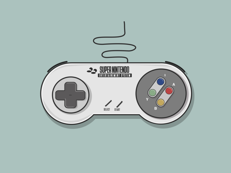 Super Nintendo Entertainement system Controller vector illustration flat design