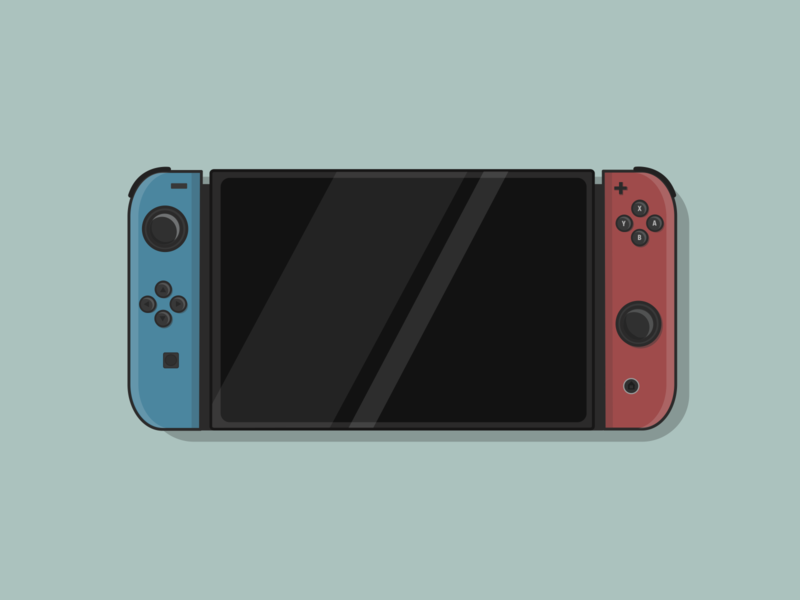 Nintendo Switch vector illustration flat design
