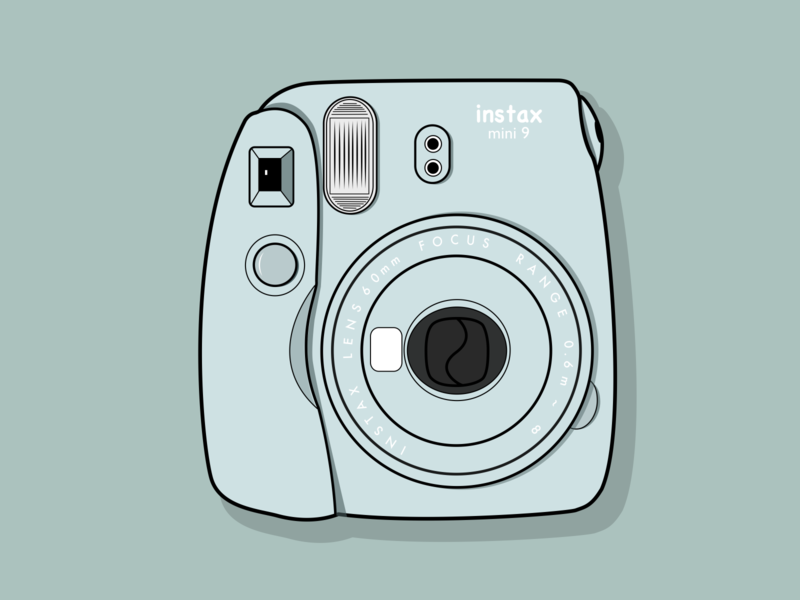 Instax camera vector illustration flat design