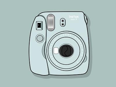Instax camera vector illustration flat design