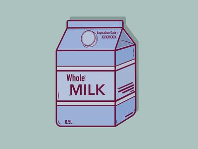 Milk Box vector illustration flat design