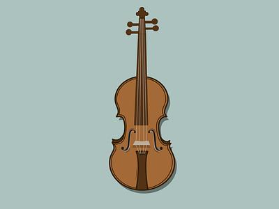 Violin vector illustration flat design