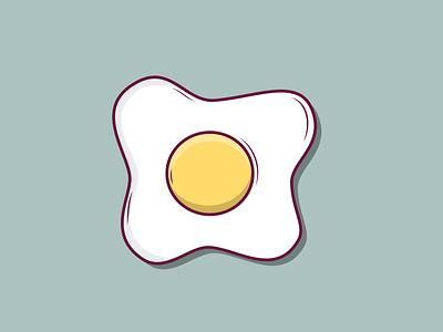 Sunny-Side Up Egg vector illustration flat design
