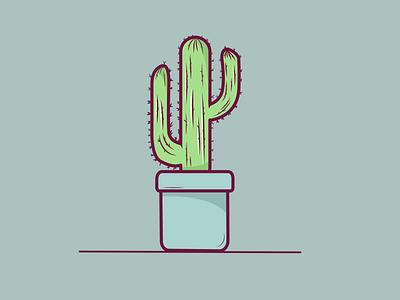 Cactus vector illustration flat design
