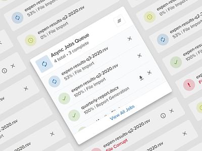 Asynchronous Jobs Queue product designer web app tasks cybersecurity queue async ux product design