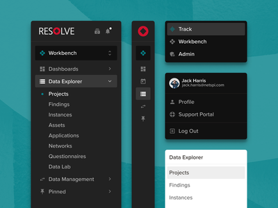 Navigation Redesign menu cybersecurity ux sidebar web app product design navigation