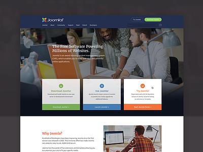 Joomla Homepage Redesign redesign desktop cms homepage design web joomla! joomla