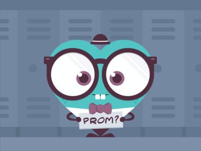 Improv Show Poster - Take 2 high school prom nerd heart illustration print poster