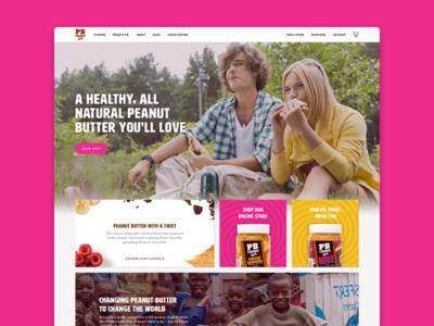 Food Website cards food website design homepage