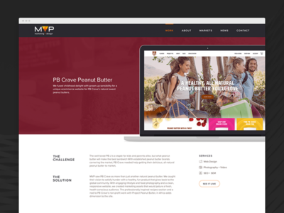 Agency Portfolio Item mock up portfolio design web