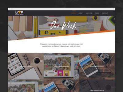 Agency Portfolio web design portfolio mock up