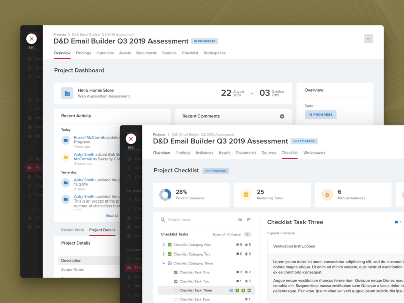 Project Details product design details details page secure workspace dashboad web app cybersecurity
