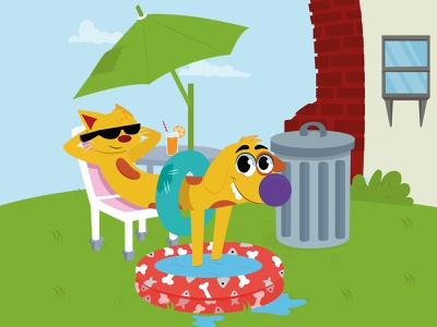 CatDog logo design animation vector illustrator illustration illustraion art graphic design