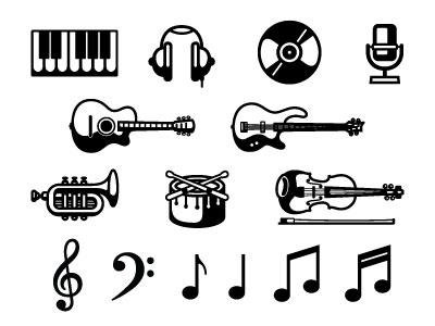 Music Symbols by Tyler Stockdale on Dribbble