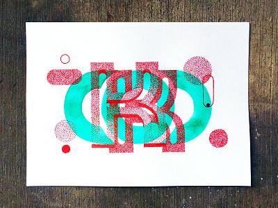 The Letter K tyler stockdale stipple watercolor lettering k drawn hand typography