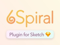Make beutiful spirals in Sketch - 🌀6Spiral Sketch Plugin