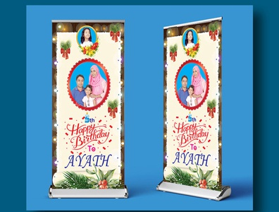 Roll up banner Design banners banner ads banner ad banner design banner roll up banner roll up banner design vector illustrator design illustration creative design branding