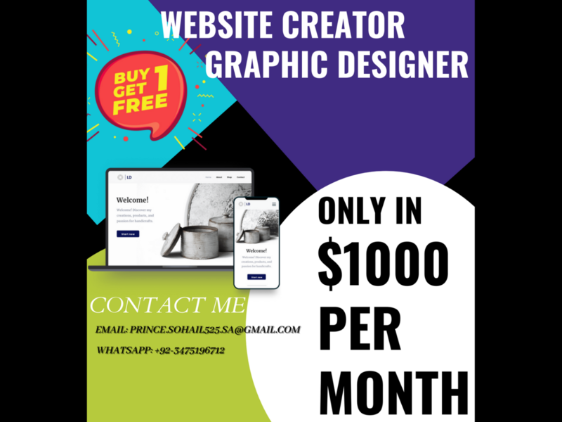 Grahic Designer and Website Creator Only in  $1000 logo illustration design branding animation flat web ux vector ui