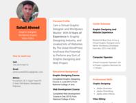 Sohail's Resume icon vector illustrator app web typography logo illustration design branding