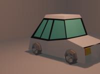 CAR 3d modeling 3d art 3dlowpoly