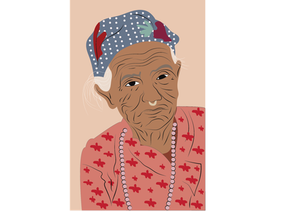 old lady linework illustration art illustrations illustration vector creative